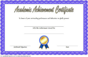 Academic Achievement Certificate Template 1 Free | Awards With Quality Academic Excellence Certificate