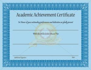 Academic Achievement Certificate Template – Certificate intended for New Academic Achievement Certificate Templates