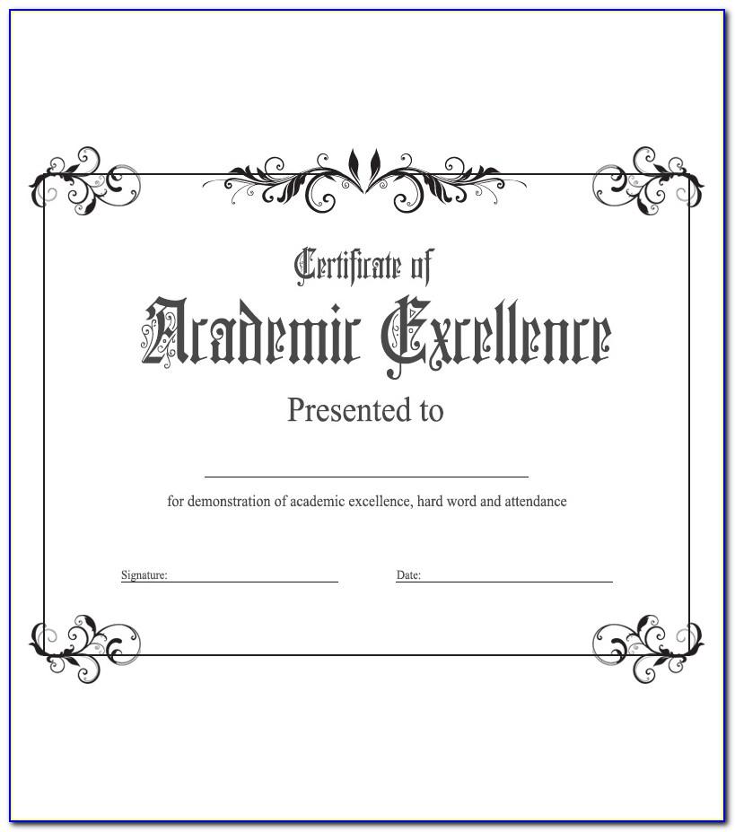 Academic Award Certificate Template Free | Vincegray2014 inside Academic Achievement Certificate Templates