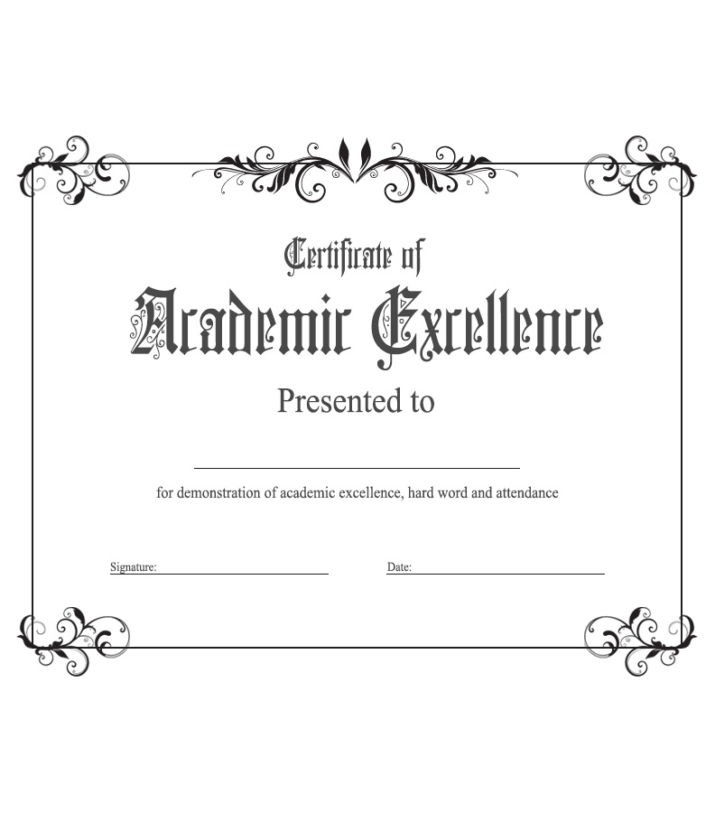 Academic Excellence Award : Kukook within Unique Certificate Of Academic Excellence Award