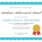 Academic Excellence Certificate | Awards Certificates Within Certificate Of Academic Excellence Award