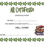 Accelerated Reader Award Certificate Template Free With Star Reader Certificate Template Free