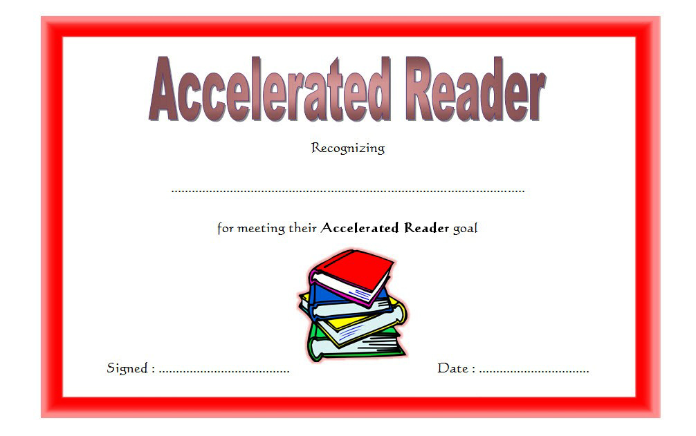 Accelerated Reader Certificate Printable Free 3 In 2020 with Accelerated Reader Certificate Templates