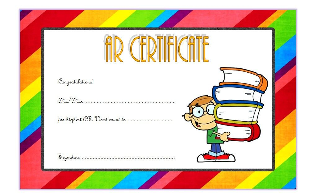 Accelerated Reader Certificate Template Free (Top 7+ Ideas intended for Star Reader Certificate Templates