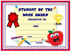 Achievement Award Certificates | Student Certificates pertaining to Fresh Student Of The Week Certificate Templates