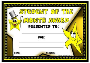 Achievement Award Certificates | Student Of The Month with regard to Best Free Printable Student Of The Month Certificate Templates