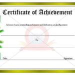 Achievement Certificate | Certificate Templates, Certificate With Regard To Outstanding Achievement Certificate