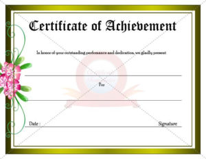 Achievement Certificate | Certificate Templates, Certificate with regard to Outstanding Achievement Certificate