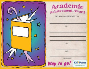 Achievement Certificate Template in Fresh Academic Achievement Certificate Template