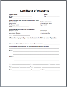Acord Insurance Certificate Template (1) – Templates Example with regard to Quality Acord Insurance Certificate Template
