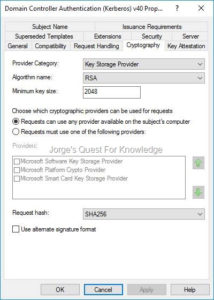 Active Directory Certificate Services (Adcs) | Jorge'S Quest For Domain Controller Certificate Template