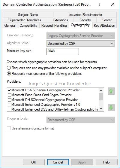 Active Directory Certificate Services (Adcs) | Jorge'S Quest in Best Domain Controller Certificate Template