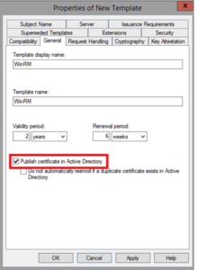 Active Directory Certificate Templates (2) – Templates within Fresh Active Directory Certificate Templates