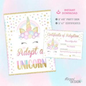 Adopt A Unicorn Certificate pertaining to Best Unicorn Adoption Certificate Free Printable 7 Ideas