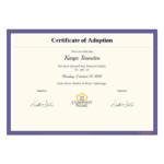 Adoption Certificate Template – Pdf Templates   Jotform Regarding Adoption Certificate Template