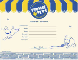 Adoption Certificate throughout Build A Bear Birth Certificate Template