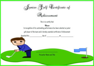 Adorable Golf Certificates For Professional Players : Free with Golf Certificate Templates For Word