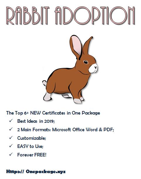 Adorable Rabbit Adoption Certificate Template   Rabbit pertaining to Rabbit Adoption Certificate Template 6 Ideas Free