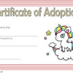 Adorable Unicorn Adoption Certificate Free Printable (1St throughout Unicorn Adoption Certificate Templates
