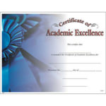 Akademische Excellence Award Certificate, Pack 15 | Ebay With Regard To Certificate Of Academic Excellence Award