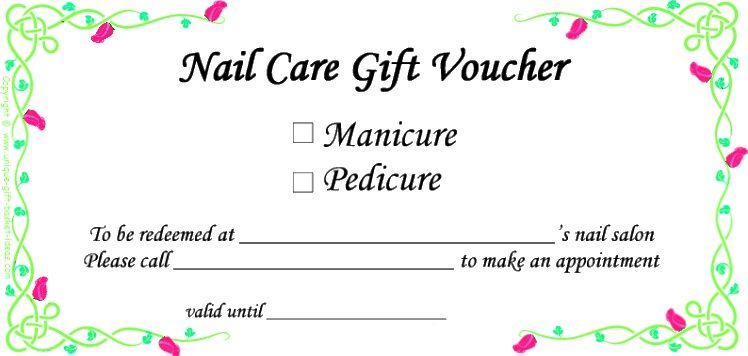 Always A Good Idea! | Gift Certificate Template Word, Gift in Free Printable Manicure Gift Certificate Template