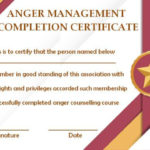 Anger Management Certificate: 15 Templates With Editable In Anger Management Certificate Template Free