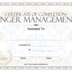 Anger Management Certificate Of Completion Template Download Inside Anger Management Certificate Template