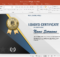 Animated Certificate Design Powerpoint Template within Award Certificate Template Powerpoint