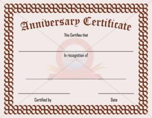 Anniversary Certificate | Certificate Templates, Certificate in Hayes Certificate Templates