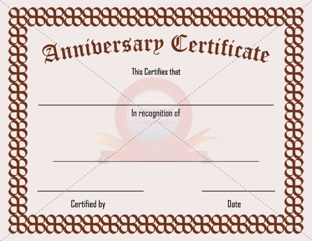 Anniversary Certificate | Certificate Templates, Certificate inside New Anniversary Certificate Template Free