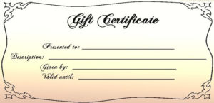 Another Wedding, Another Gift | Free Gift Certificate intended for Unique Free Wedding Gift Certificate Template Word 7 Ideas