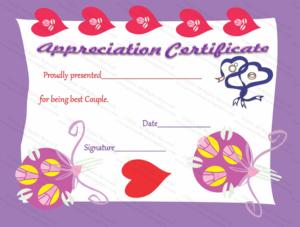 Appreciation Certificate (True Love, #2277) in New Love Certificate Templates