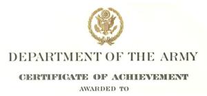 Army Certificate Of Achievement Citation Examples in Army Certificate Of Appreciation Template