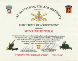 Army Certificate Of Achievement Template (1) – Templates intended for Unique Army Certificate Of Completion Template