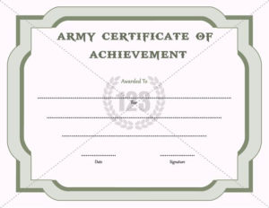 Army Certificate Of Achievement Template – 123Certificate in Certificate Of Achievement Army Template