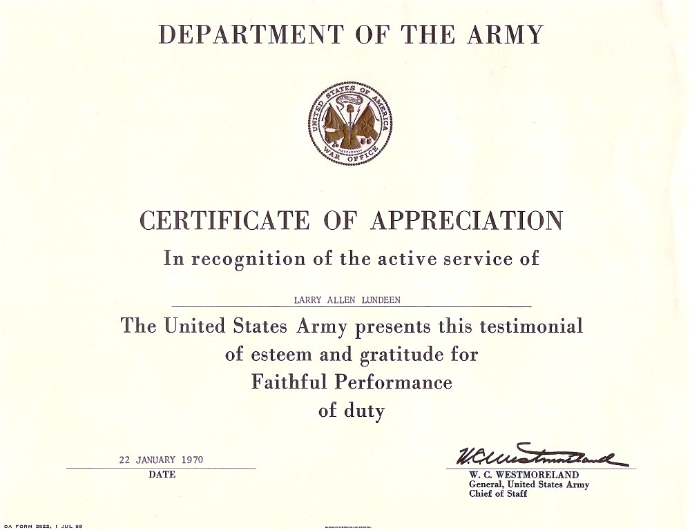 Army Certificate Of Achievement Template (5) - Templates Inside Certificate Of Achievement Army Template