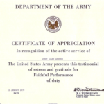 Army Certificate Of Achievement Template (5) - Templates with Army Certificate Of Appreciation Template