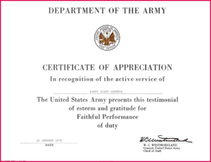 Army Certificate Of Appreciation Template (11 pertaining to Best Army Certificate Of Appreciation Template