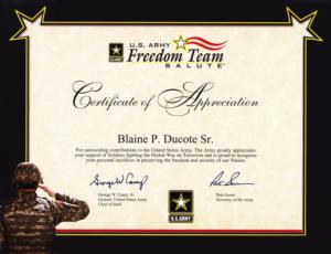 Army Certificate Of Appreciation Template (7) – Templates throughout Best Army Certificate Of Appreciation Template