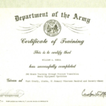 Army Certificate Of Completion Template (9) – Templates Inside Unique Army Certificate Of Completion Template