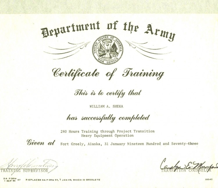 Army Certificate Of Completion Template (9) - Templates inside Unique Army Certificate Of Completion Template