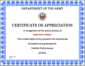 Army Certificate Template – Microsoft Word Templates with regard to Army Certificate Of Completion Template