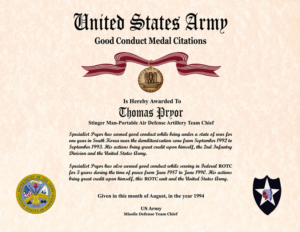 Army Good Conduct Medal Certificate Template (6) – Templates inside Unique Army Good Conduct Medal Certificate Template
