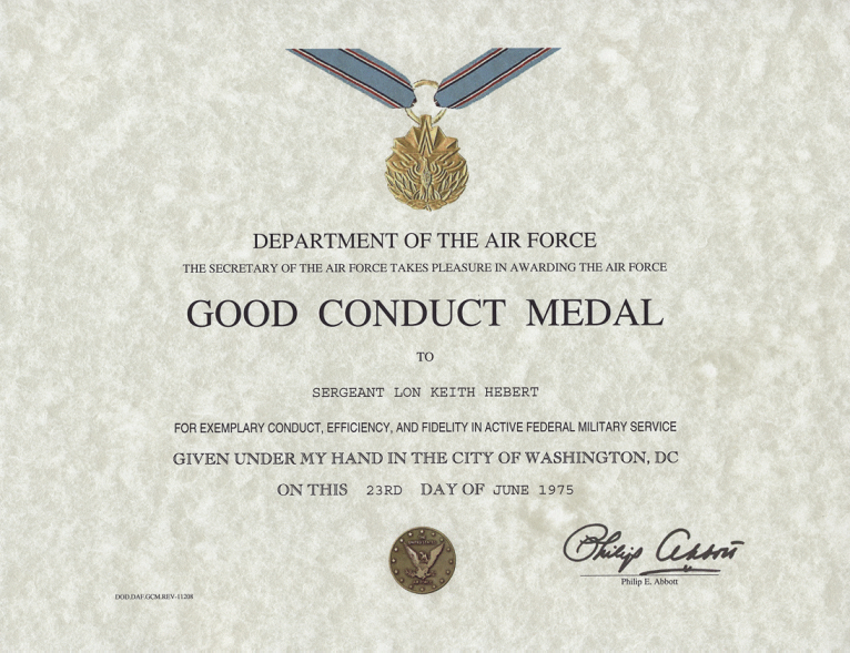 Army Good Conduct Medal Certificate Template | Certificate regarding Unique Army Good Conduct Medal Certificate Template