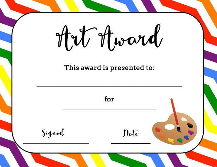 Art Award Certificate (Free Printable) | Printable Art in Art Award Certificate Template