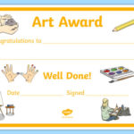 Art Award Certificate Template | Primary Classes For Fresh Free Art Award Certificate Templates Editable