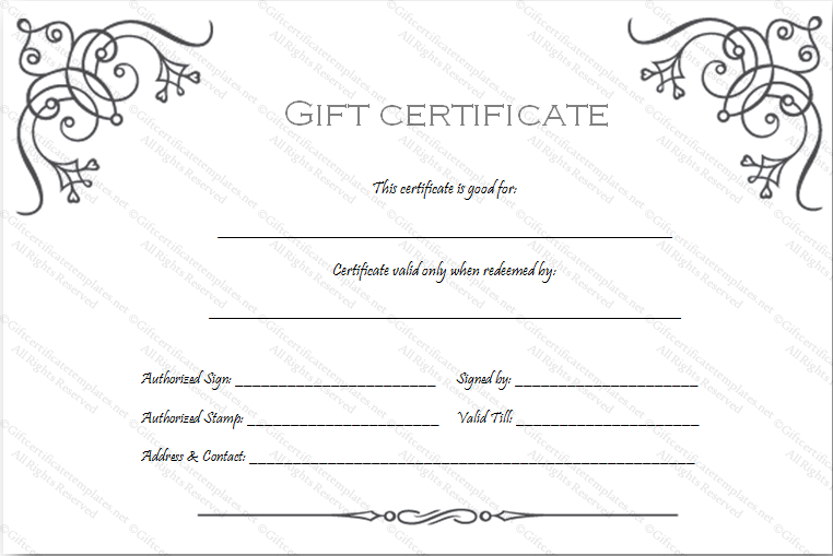 Art Business Gift Certificate Template with Custom Gift Certificate Template
