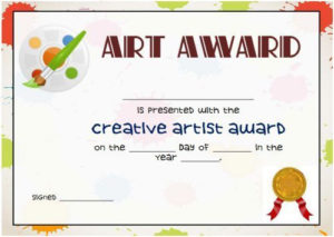 Art Certificate Template Free | Certificate Templates, Art within New Student Council Certificate Template 8 Ideas Free