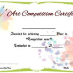 Art Competition Certificate Sample | Art Certificate with regard to Quality Drawing Competition Certificate Templates