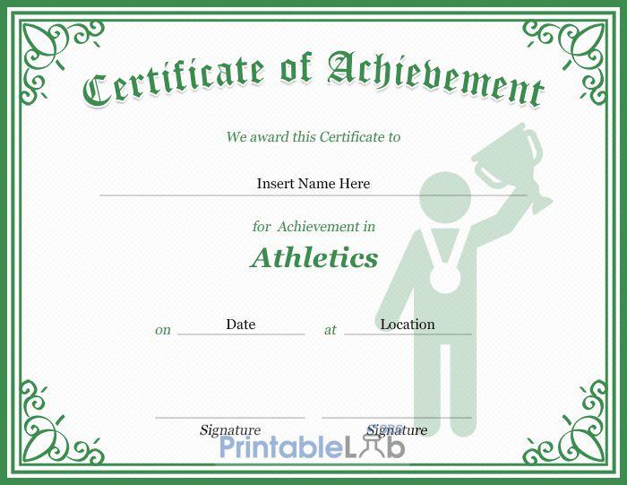 Athletics Certificate Template In Silver, Sea Green And throughout Athletic Certificate Template